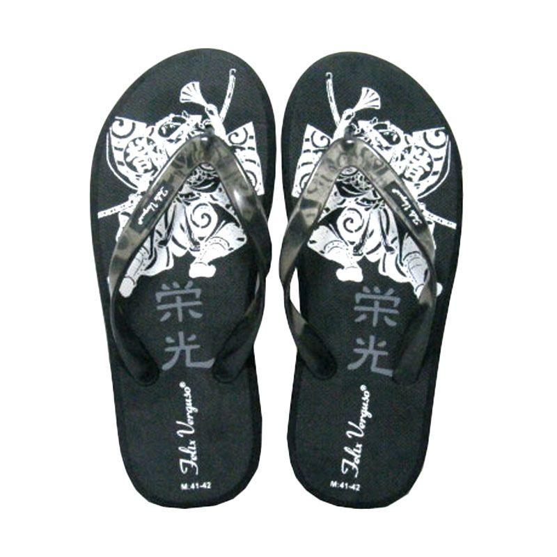 Felix Verguso Samurai Black Sandal Jepit Pria