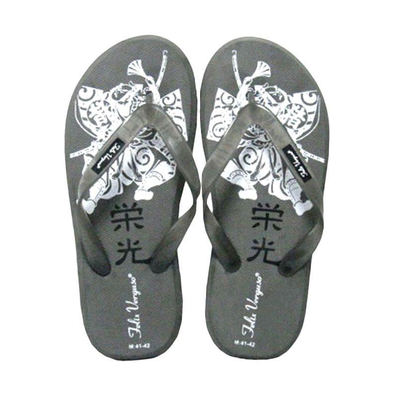 Felix Verguso Samurai Grey Sandal Jepit Pria