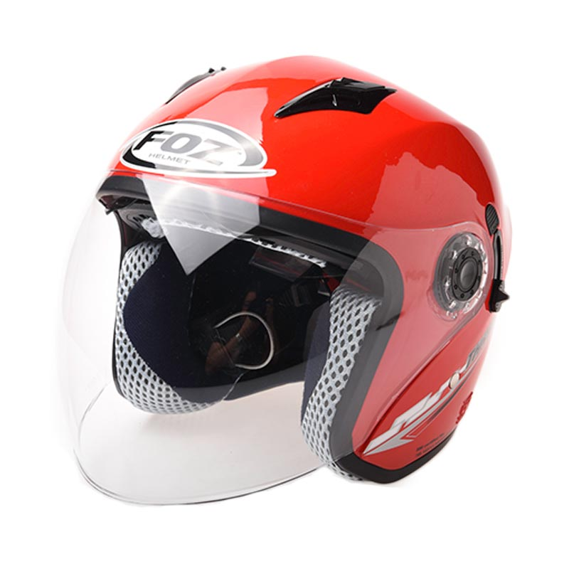 harga Foz Thriller Xr Solid Helm Half Face - Red Blibli.com