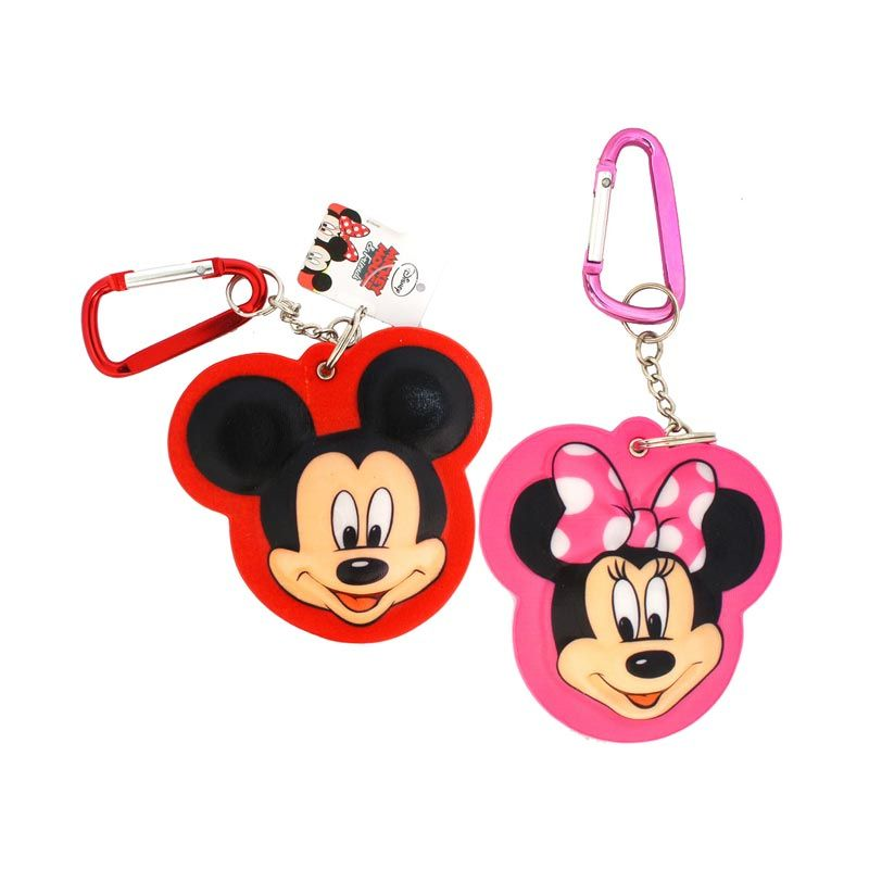 Disney Mickey 3D Large and Minnie 3D Large Keychain