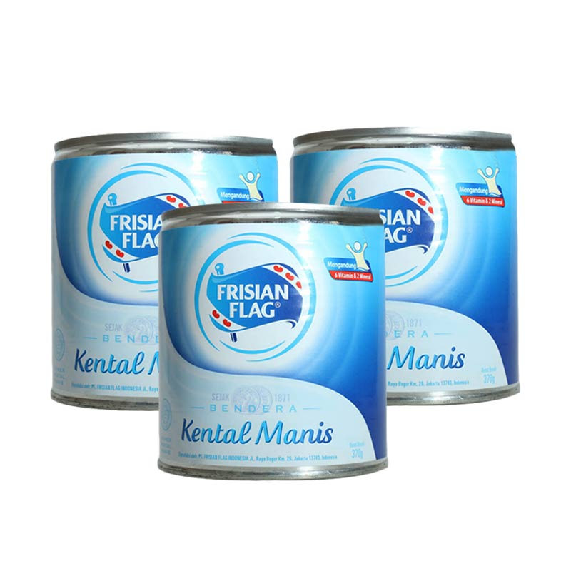 Frisian Flag Susu Kental Manis Putih [370 g/ 3 pcs]