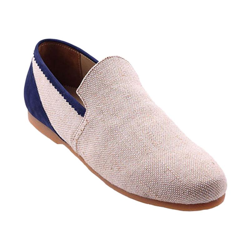 Ftale Footwear Cassius Mens Shoes Sepatu Pria - Canvas Cream