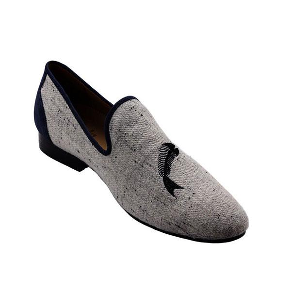 Ftale Footwear Fish Bone Mens Shoes Sepatu Pria - Grey Navy