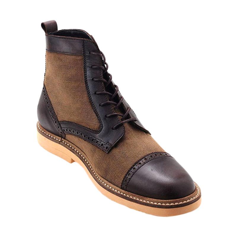 Ftale Footwear Mephobia Mens Shoes Sepatu Pria - Denim Olive Combo