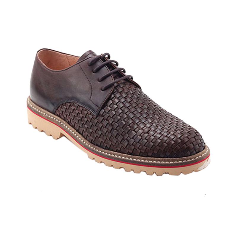 Ftale Footwear Woven Mens Shoes Sepatu Pria - Brown