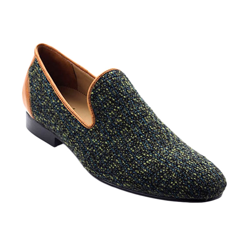 Ftale Footwear Yakuza Mens Shoes Sepatu Pria - Green Wool