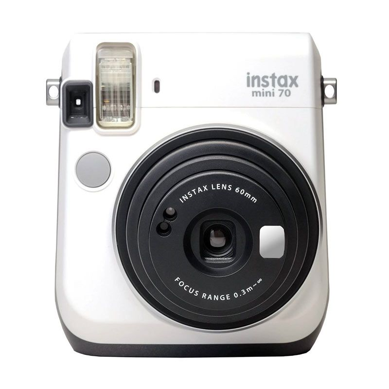 jual fujifilm instax mini 70 white kamera polaroid online. Black Bedroom Furniture Sets. Home Design Ideas