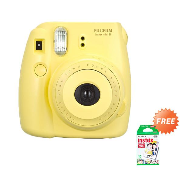 Fujifilm Instax Mini 8 Kuning Kamera Instax Paper Pack