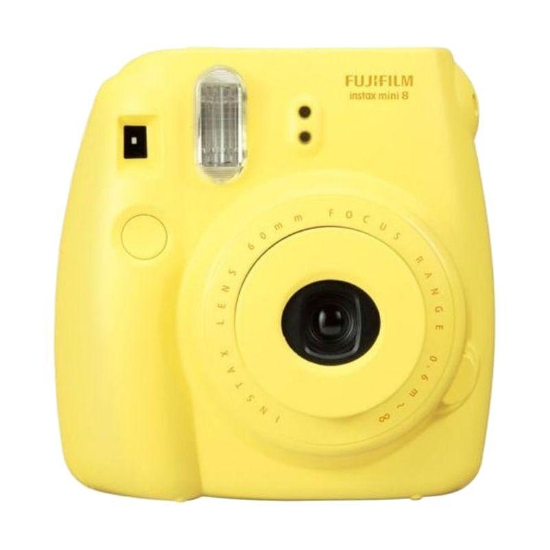 Fujifilm Instax Mini 8 Kuning Kamera Polaroid + PAPER 1 PACK