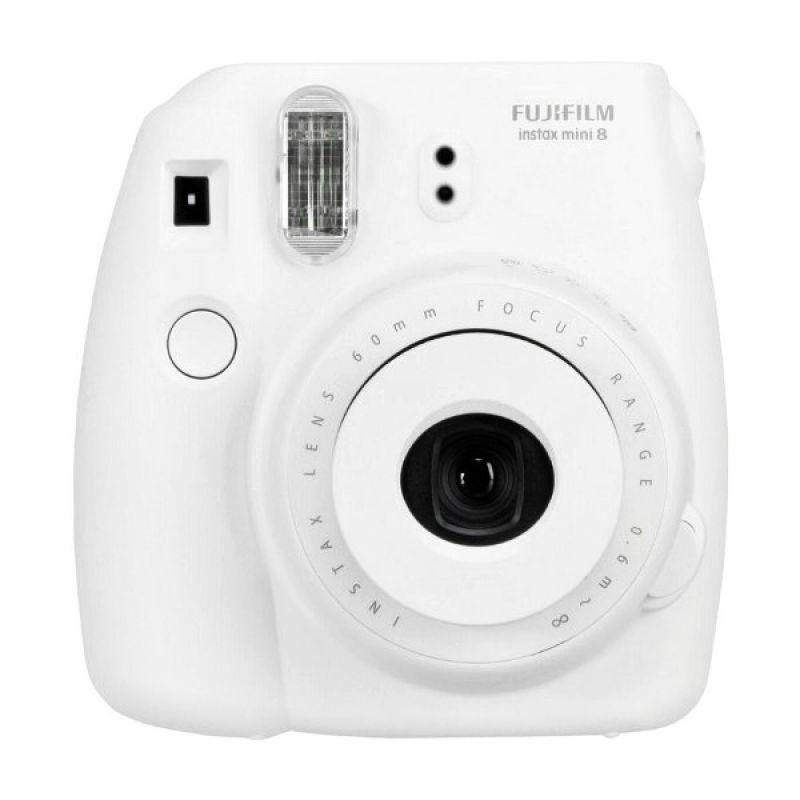 Fujifilm Instax Mini 8 Putih Kamera Polaroid + PAPER INSTAX 1 PACK