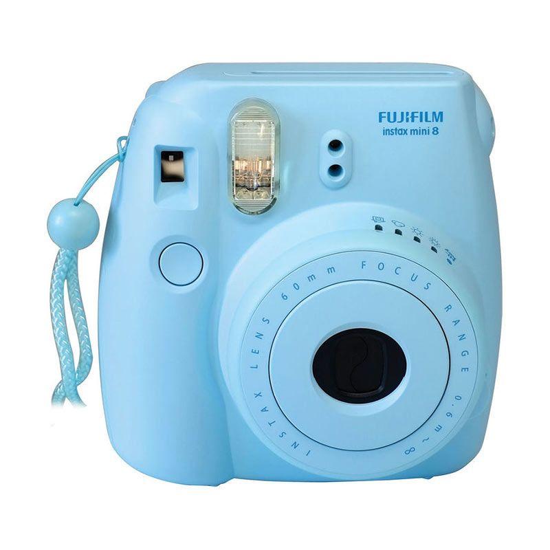 Fujifilm Instax Mini 8 Blue Kamera Polaroid + PAPER 1 PACK