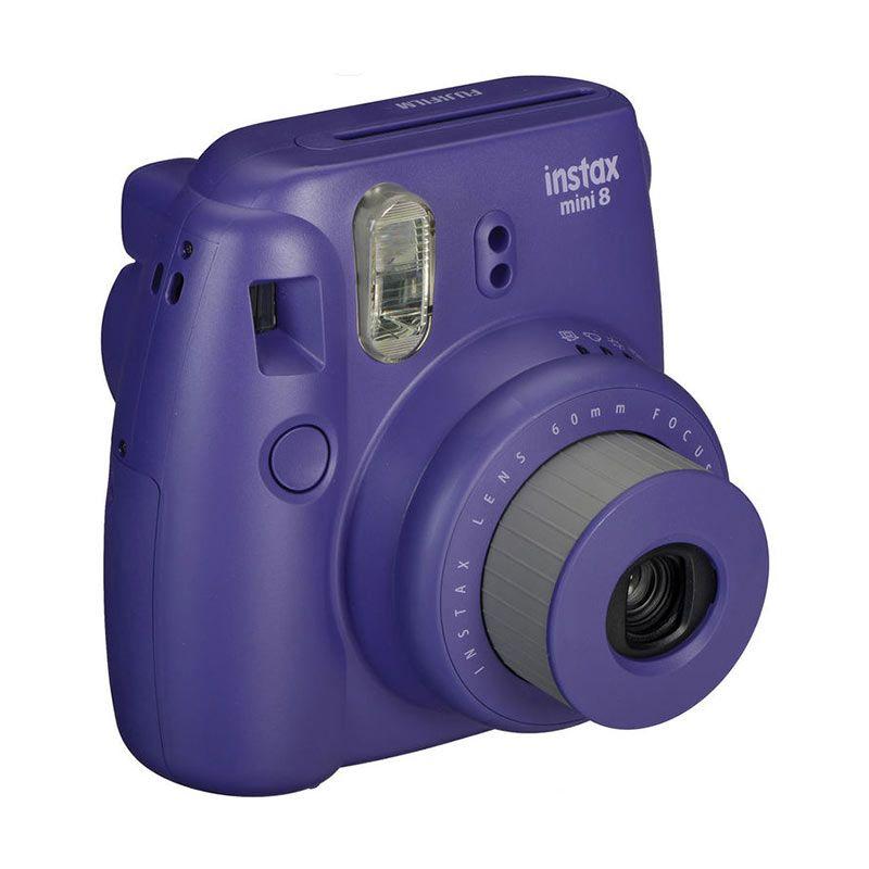 Fujifilm Instax Mini 8 Grape Kamera Polaroid + PAPER 1 PACK