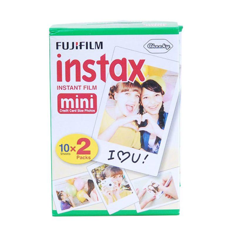 Fujifilm Refill Instax Mini Twinpack Plain Film [3 Pack]