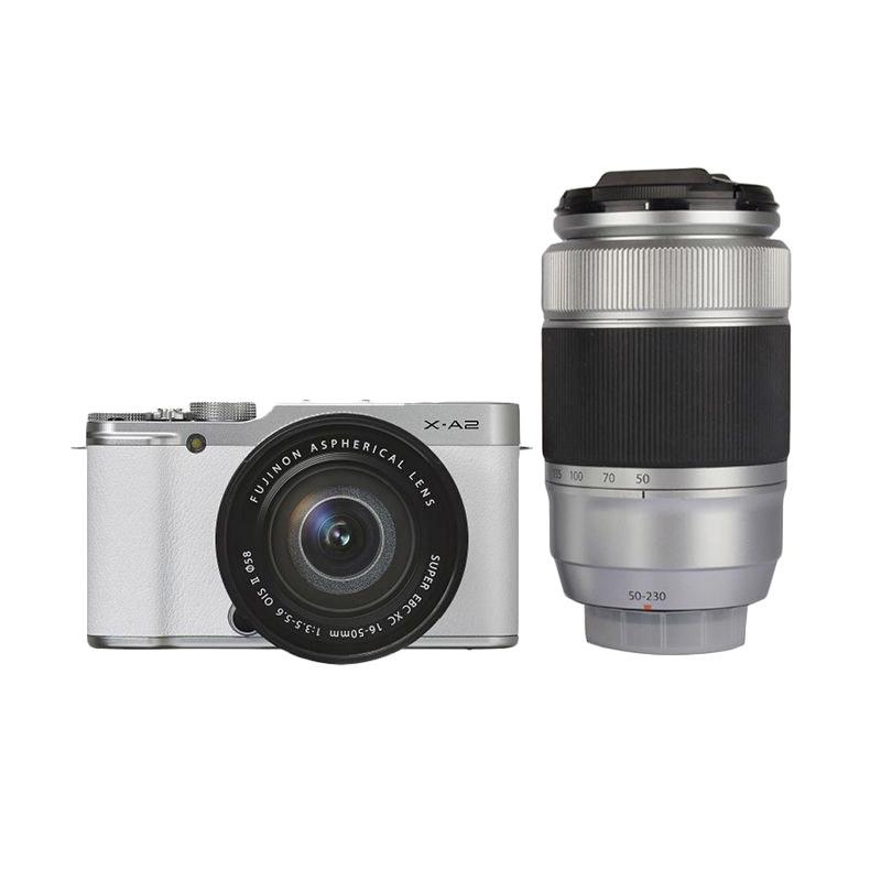 Harga dan Spesifikasi Fujifilm X-A2 Double Kit 16-50mm & 50-230mm f/3.5-5.6 OIS Kamera Mirrorless - Putih