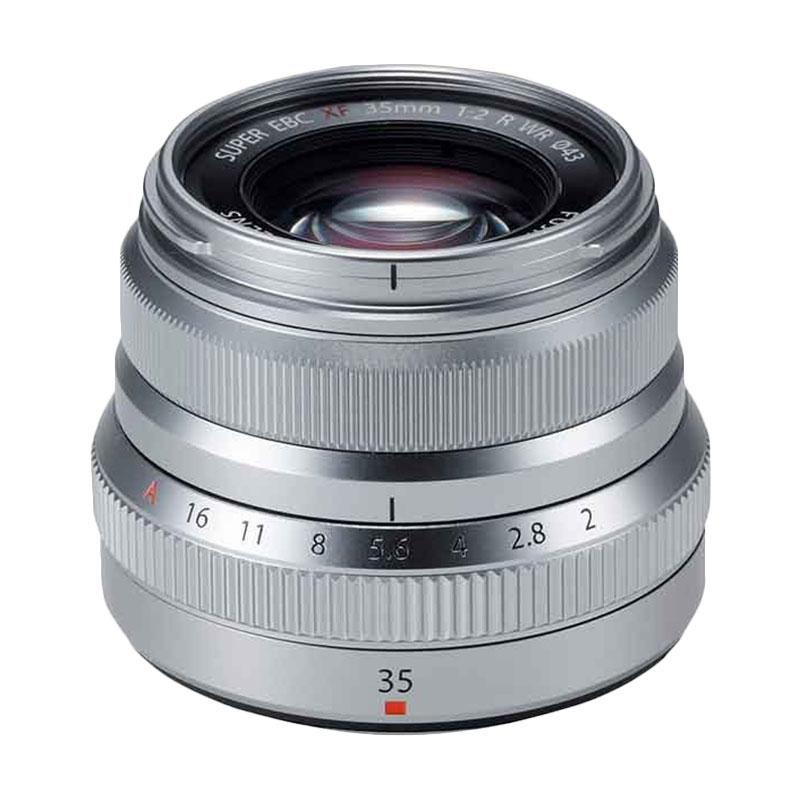 Fujinon Lens XF 35mm F2 R WR Silver Lensa Kamera