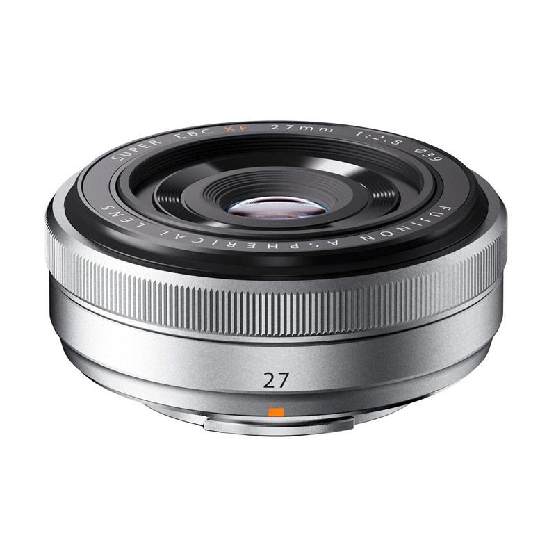 Fujifilm Fujinon XF 27mm f2.8 Pancake Silver Lensa Kamera