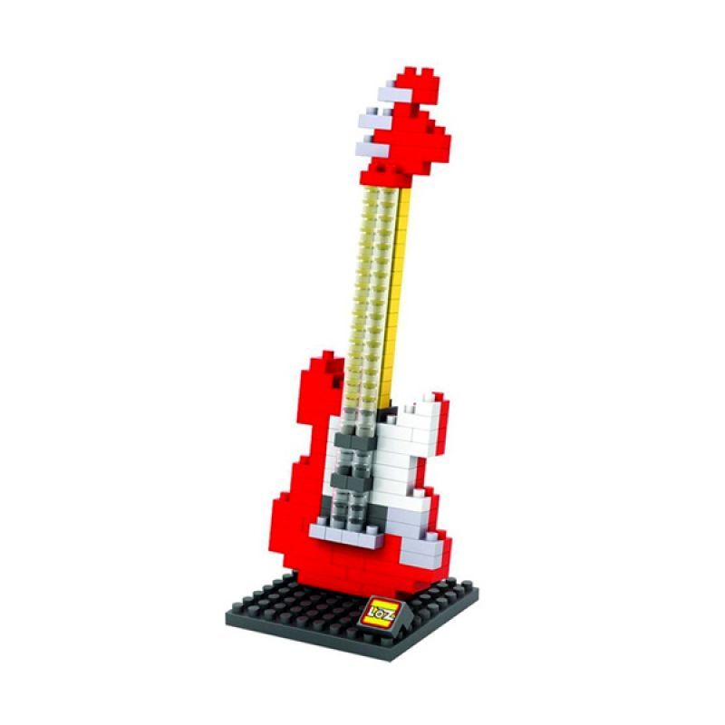 Gift Medium Electric Guitar 9192 Red Mainan Anak