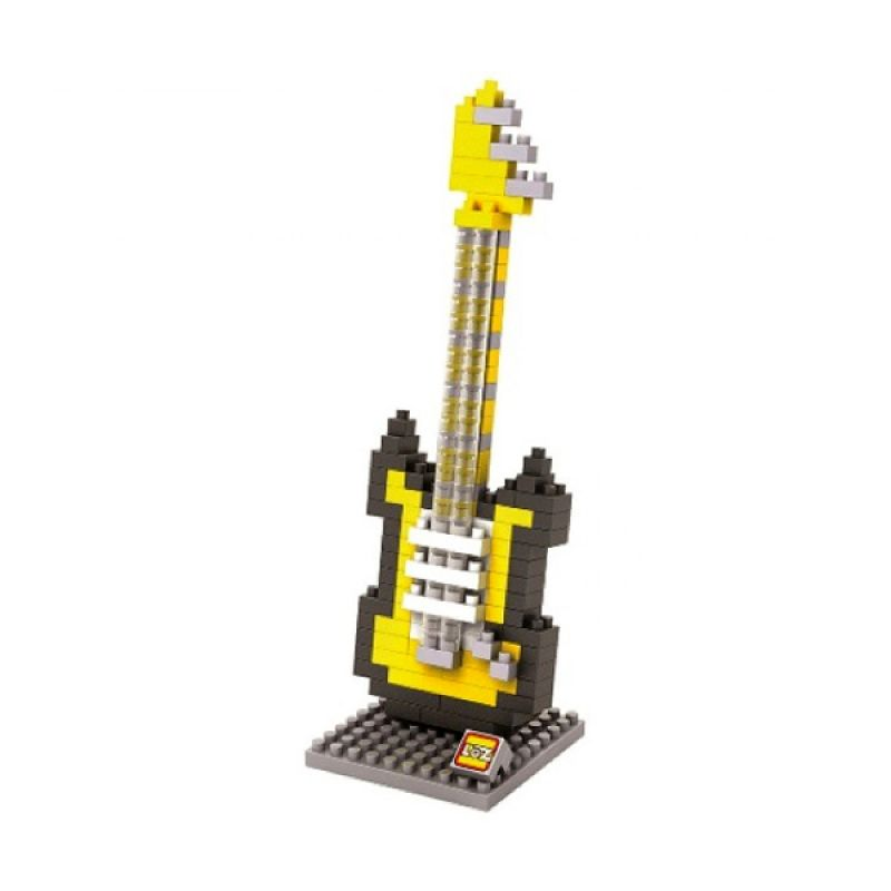 Gift Medium Electric Guitar 9193 Yellow Mainan Anak