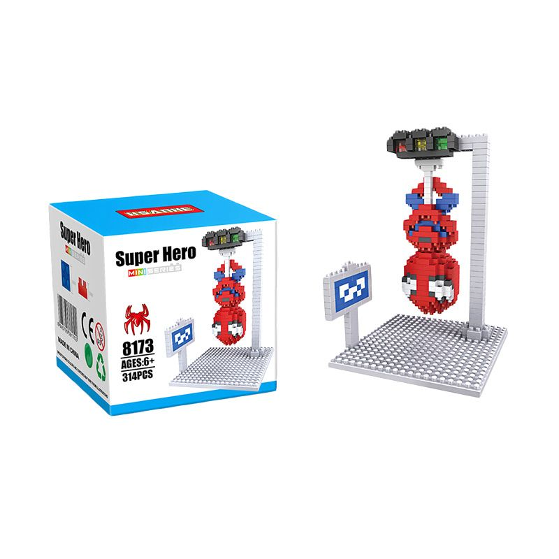 HSANHE 8173 Spiderman Scene Mainan Blok & Puzzle