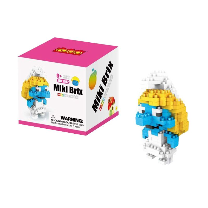 COGO 1102 Smurfette Mainan Blok & Puzzle