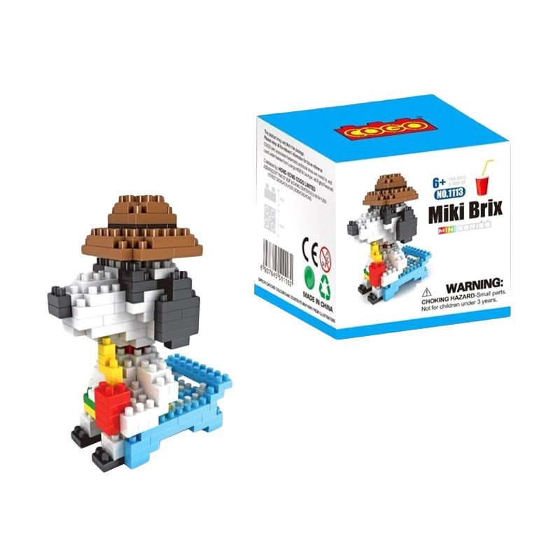 COGO 1112 Gardening Snoopy Mainan Blok & Puzzle