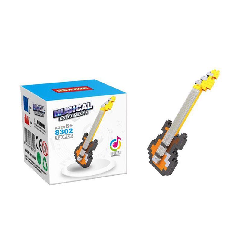 Hsanhe 8302 Guitar Mainan Blok & Puzzle