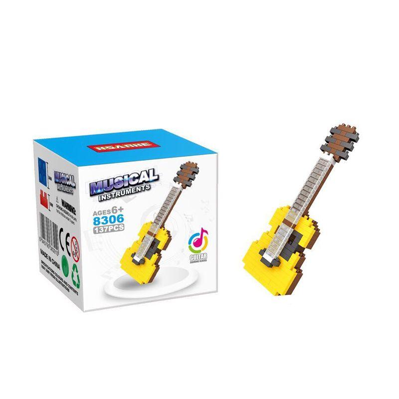 Funbrick Indonesia Hsanhe 8306 Guitar Mainan Blok & Puzzle