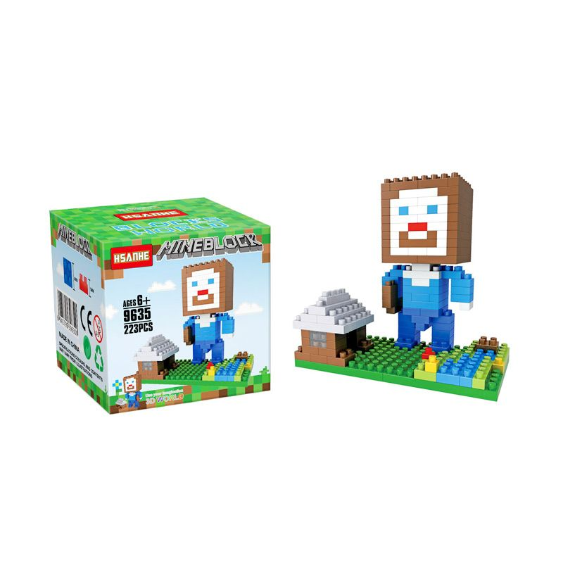 Funbrick Indonesia Hsanhe 9635 Minecraft Steve House Mainan Blok & Puzzle