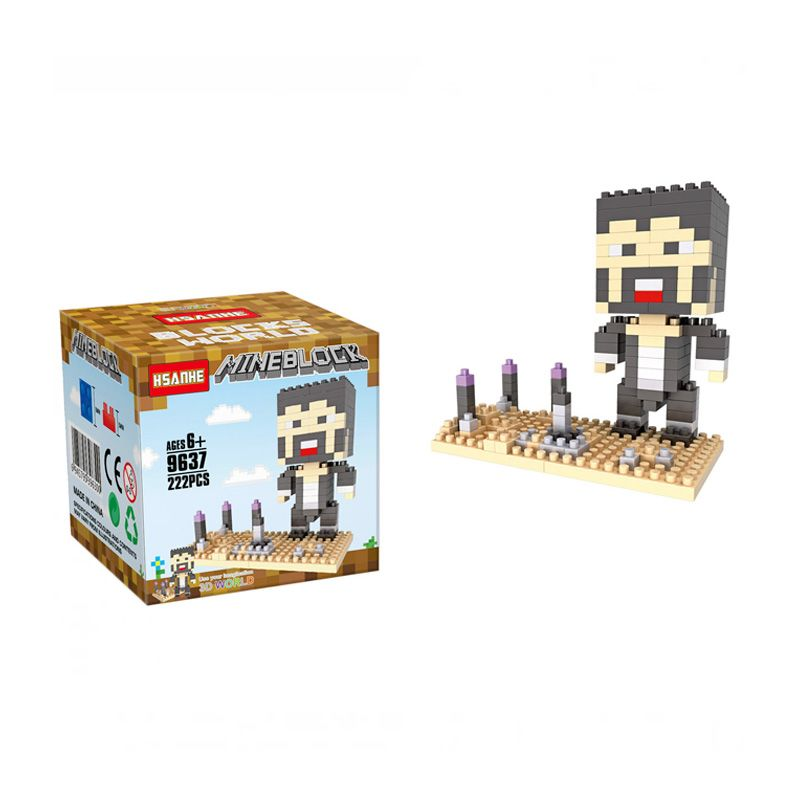 Funbrick Indonesia Hsanhe 9637 Minecraft Steve Deser Mainan Blok & Puzzle