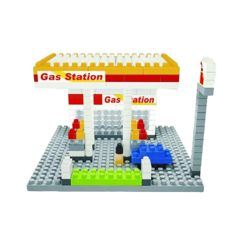 Funbrick Indonesia Wisehawk 2318 Gas Station Mainan Blok & Puzzle