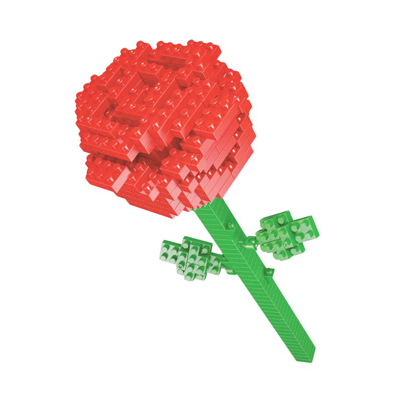 Funbrick Indonesia Wisehawk 2353 Red Rose Mainan Blok & Puzzle
