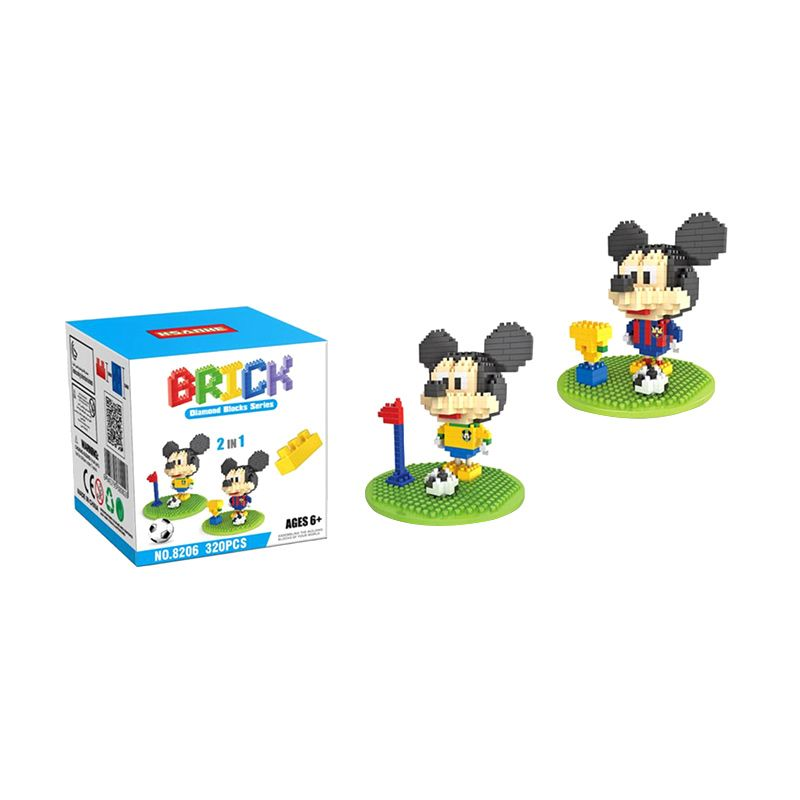 HSANHE 8206 Football Costu Mainan Blok & Puzzle