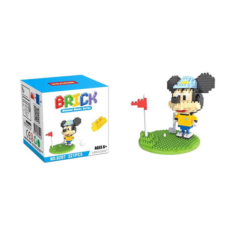 HSANHE 8207 Mickey Golf Mainan Blok & Puzzle