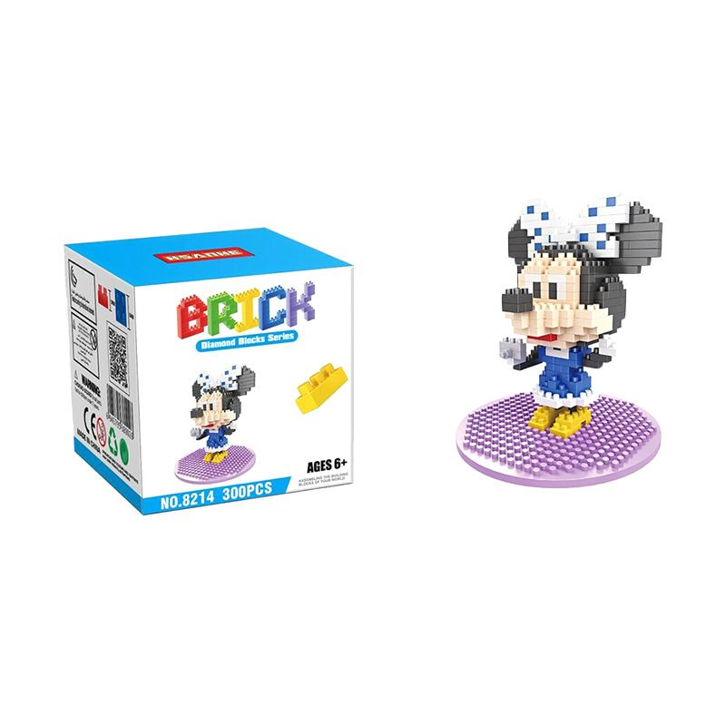 HSANHE 8214 Minnie Mainan Blok & Puzzle