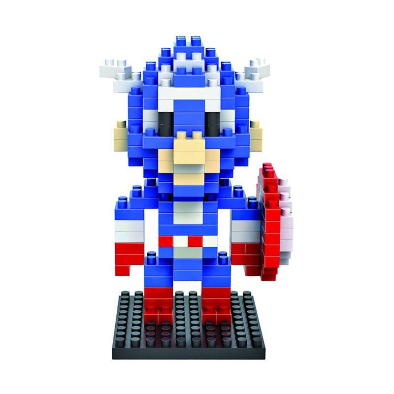 Loz Capt America Gift Medium 9159 Mainan Anak