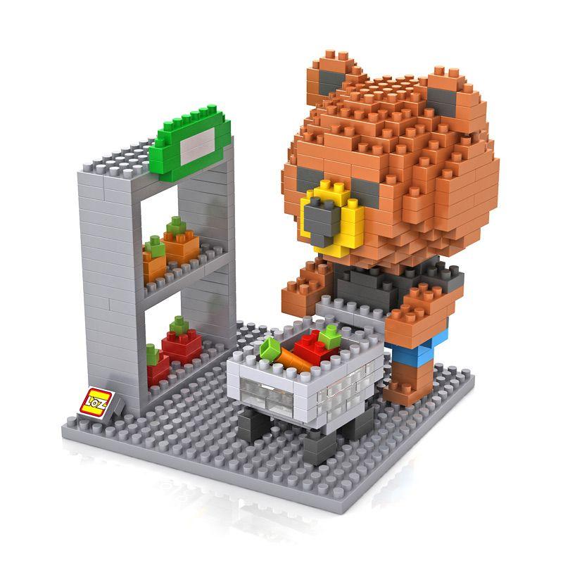 Loz Gift 9432 Brown Bear Shopping Mainan Blok dan Puzzle