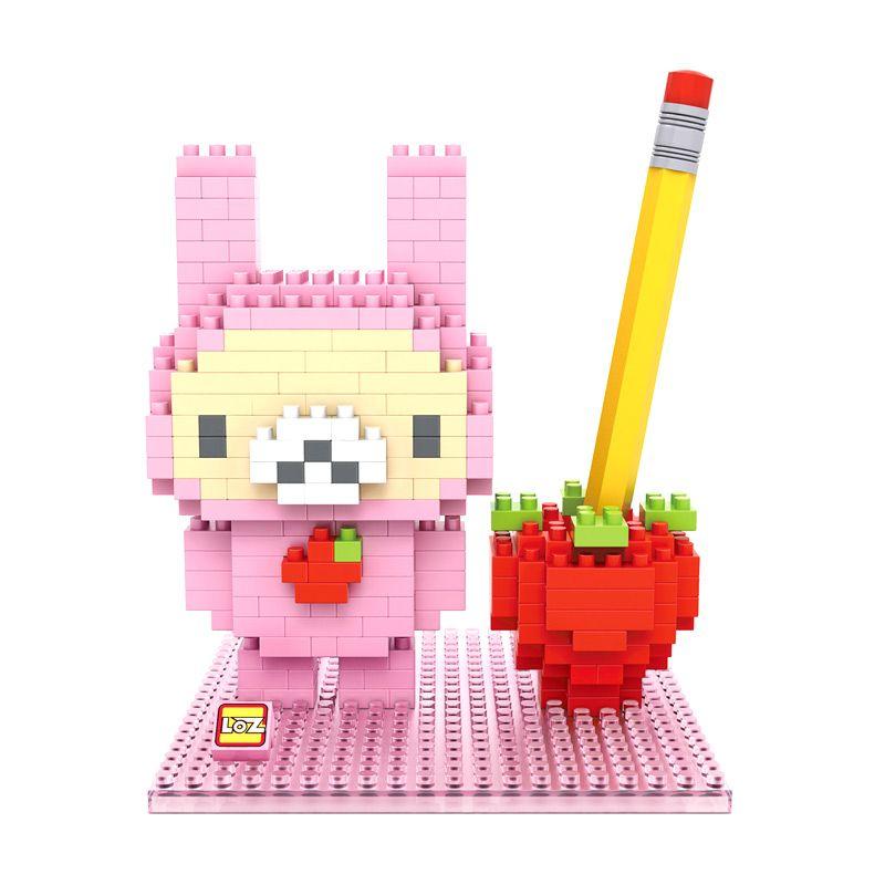 Loz Gift 9435 Bear Strawberry Mainan Blok dan Puzzle