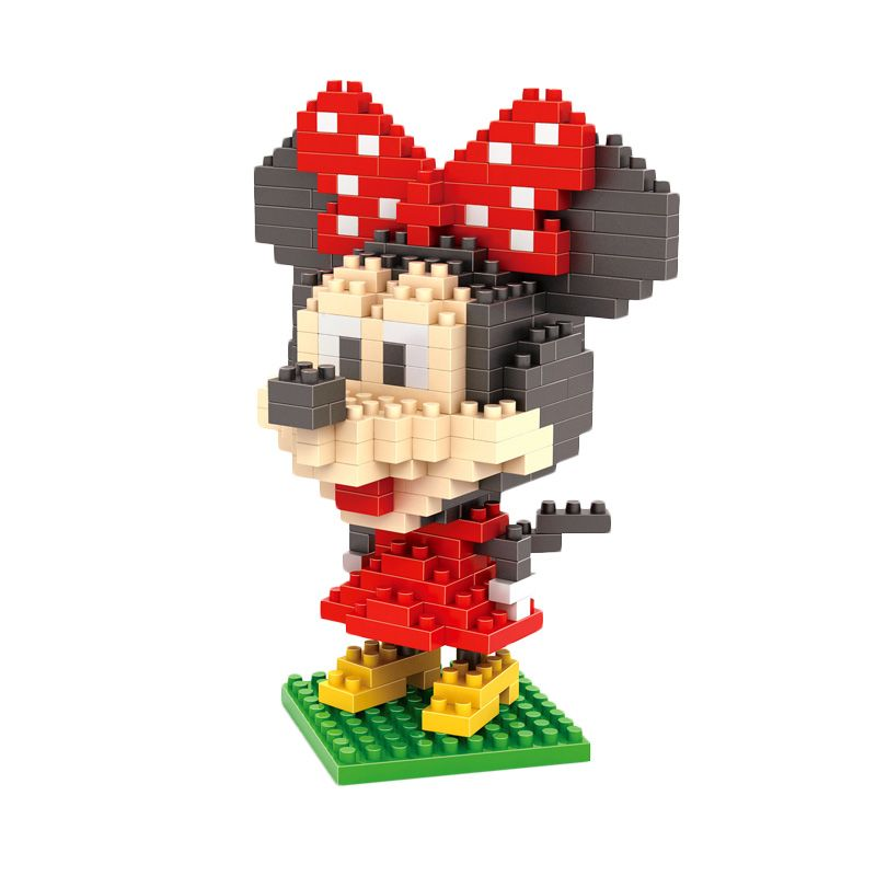 LOZ Gift Large 9414 Minnie Mainan Blok & Puzzle