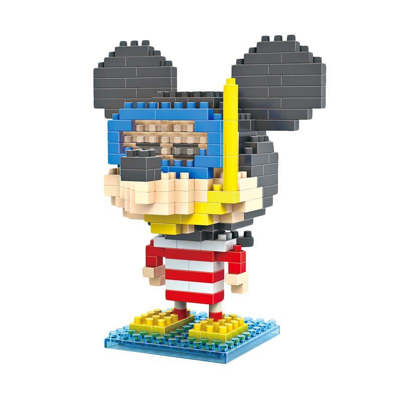 LOZ Gift Large 9422 Diver Mickey Mainan Blok & Puzzle