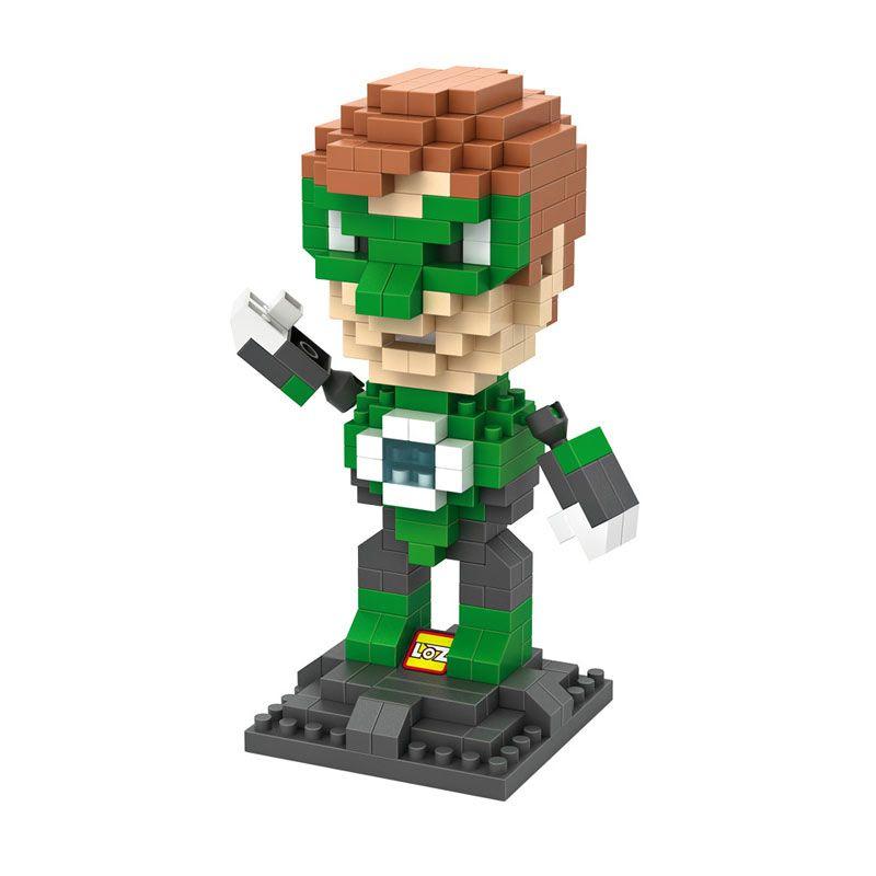 LOZ Gift Large 9454 Green Lantern Mainan Blok & Puzzle