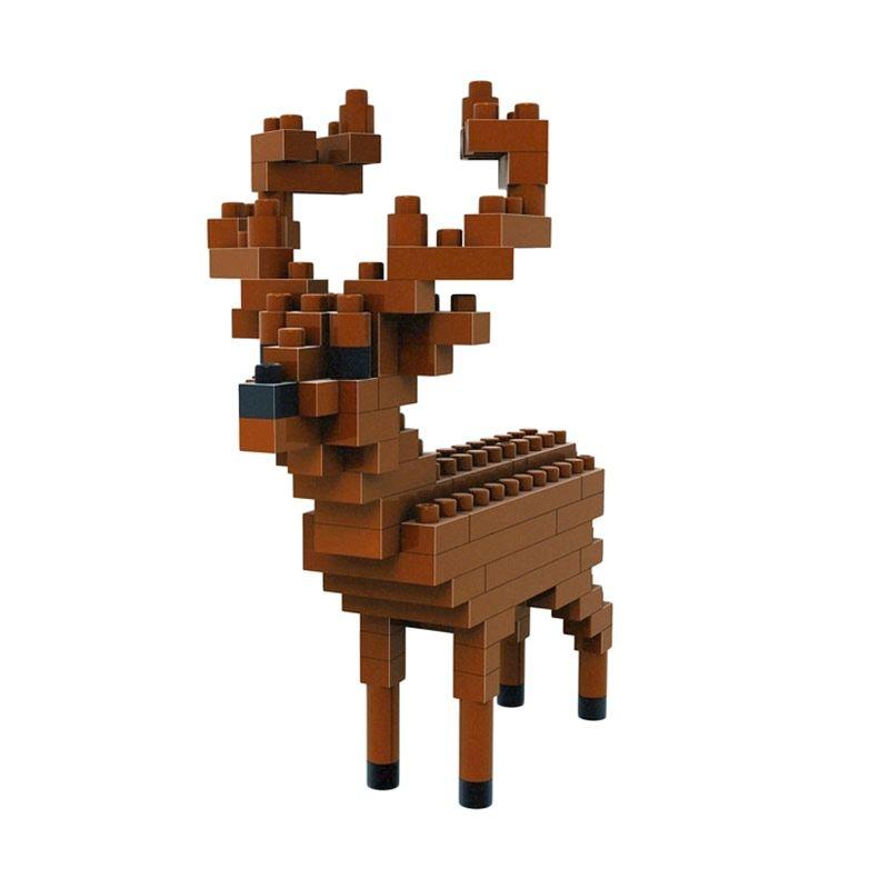 Loz Gift Small 9322 Deer Mainan Blok & Puzzle