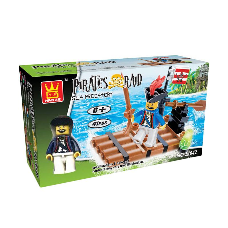 WANGE Pirates Raid 22042 Mainan Blok dan Puzzle