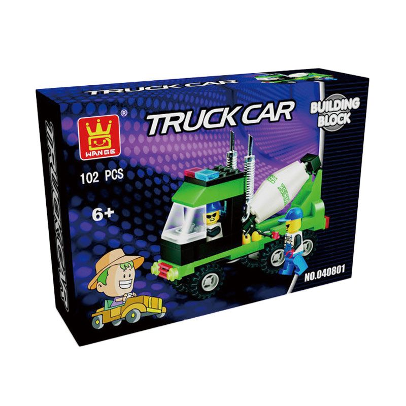 WANGE Truck Car 040801 Mainan Blok & Puzzle