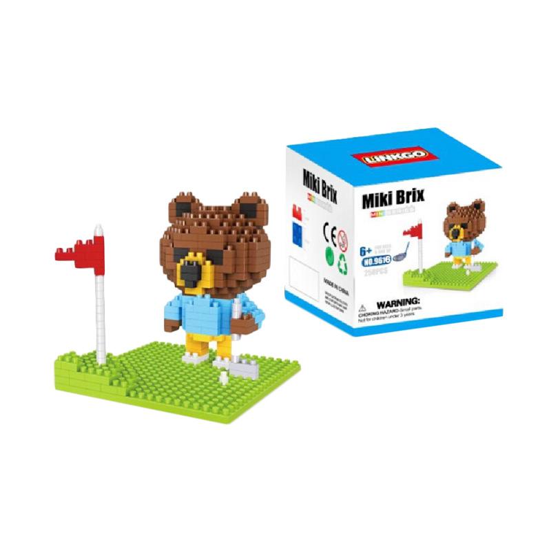 Funbrick  Linkgo 9616 Bear N Golf Course Mainan Blok & Puzzle