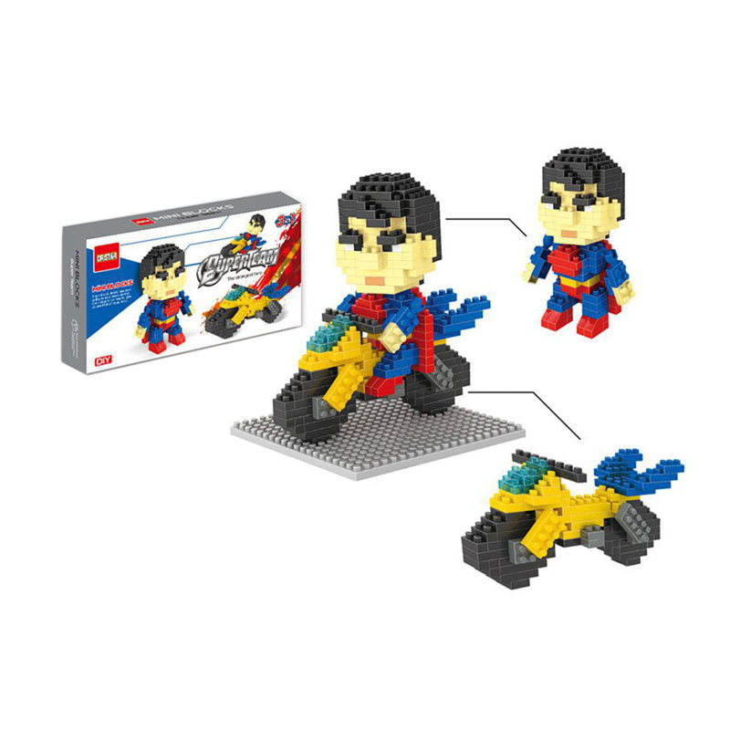 FUNBRICK DR Star 537 Superman Mainan Blok & Puzzle