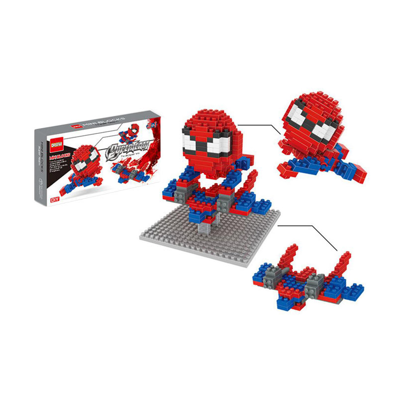 FUNBRICK DR Star 540 Spiderman Mainan Blok & Puzzle