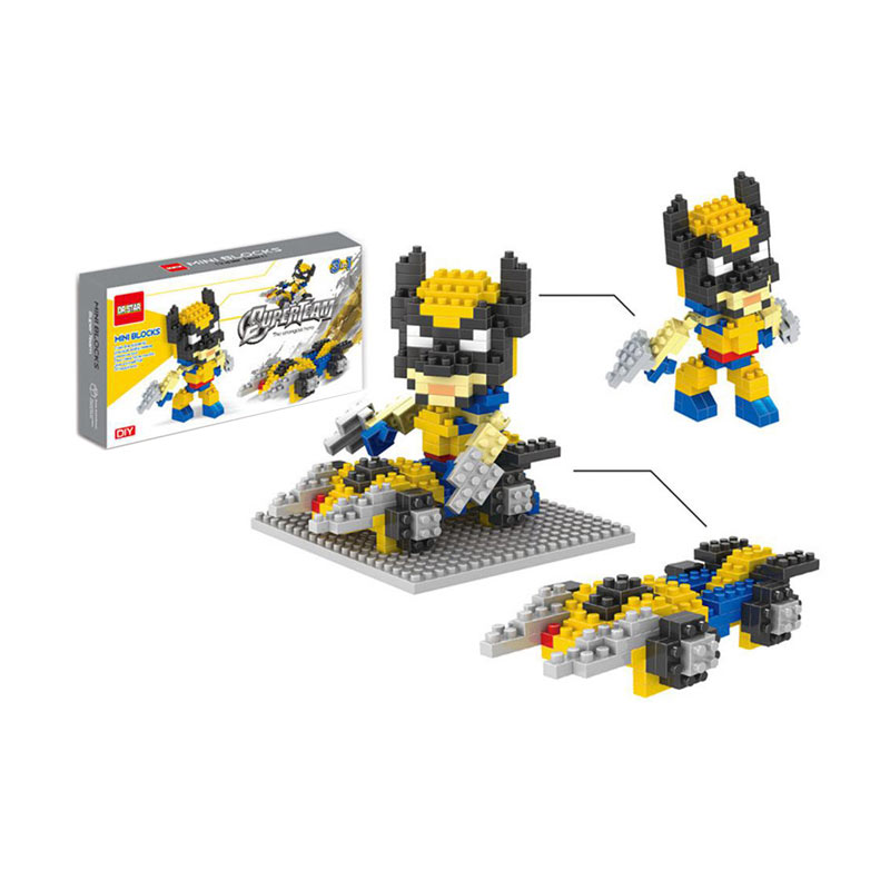 FUNBRICK DR Star 542 Wolverine Mainan Blok & Puzzle