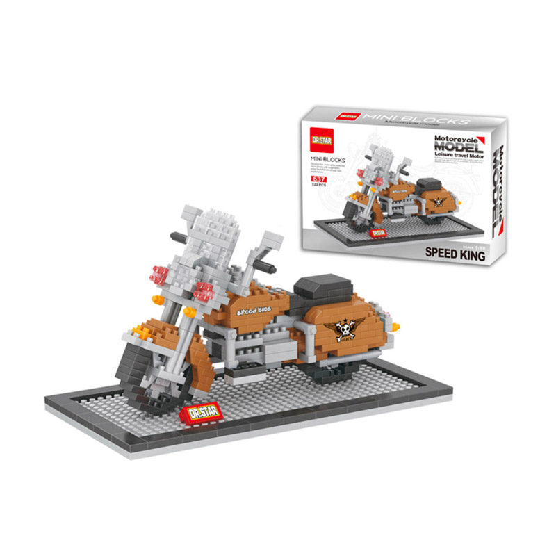 Funbrick Dr.Star 637 Speedking Motorcycle Mainan Block & Puzzle