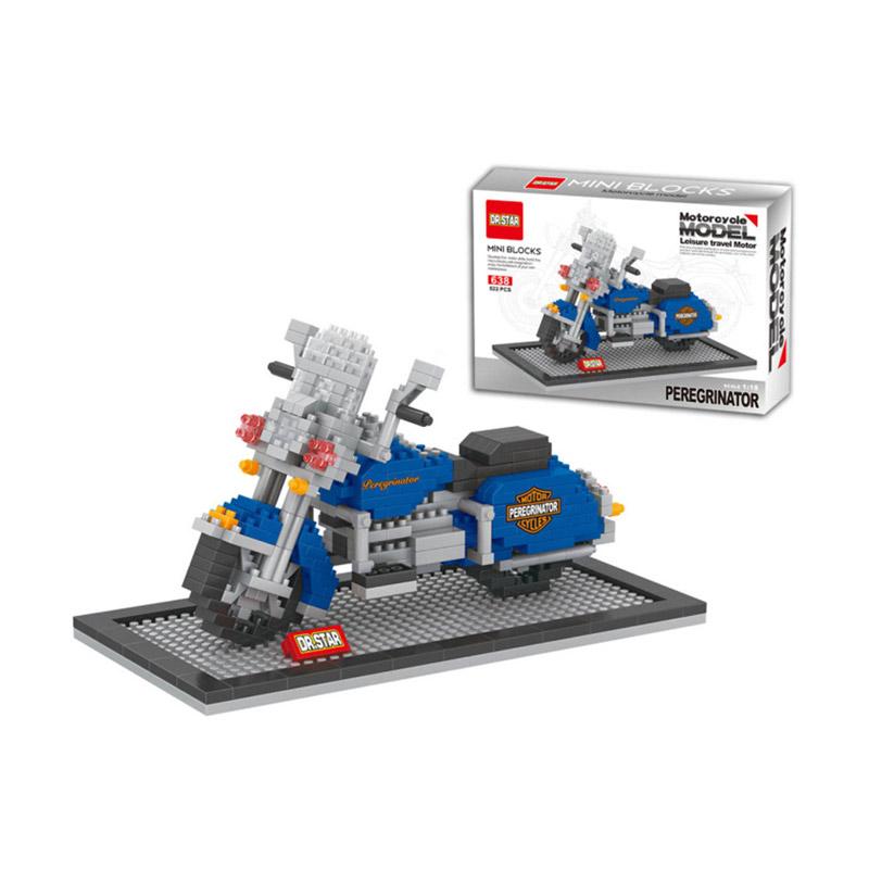 Funbrick Dr.Star 638 Peregrinator Motorcycle Mainan Block & Puzzle