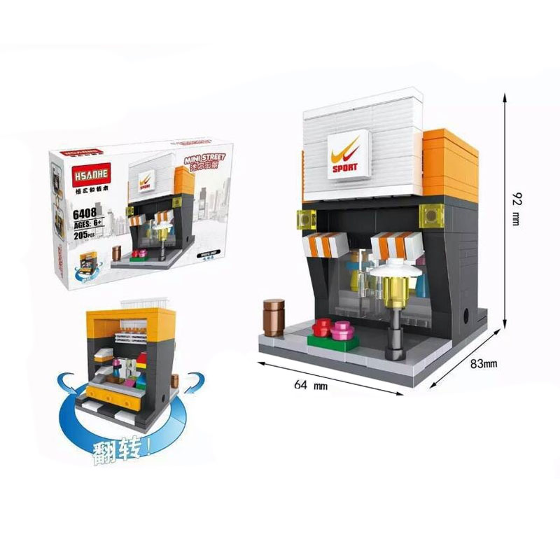 Funbrick Hsanhe 6408 Sports Shop Mainan Blok & Puzzle